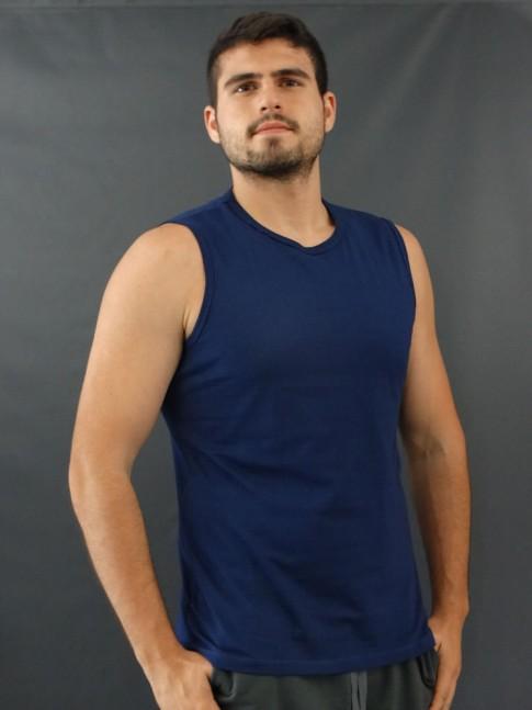 Camiseta Masculina Regata Machão Basic Azul Marinho [2010039]