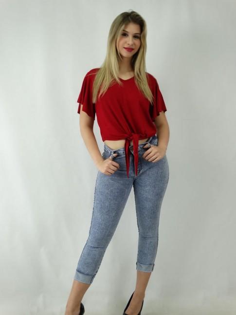 Calça Jeans com Stretch Cigarrete [1810064]