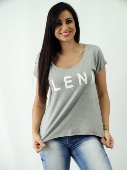 T-shirt em Viscolycra Mullet Estampa Plena
