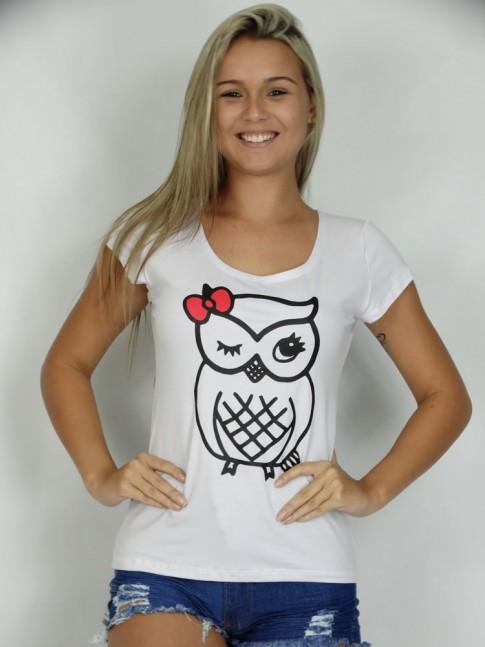200- T-shirt Corujinha com Laço
