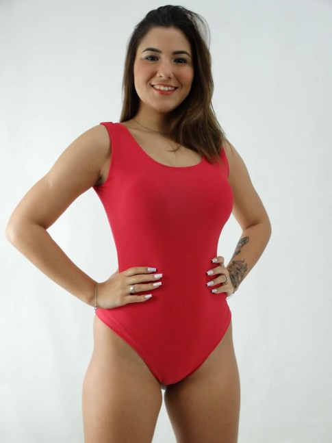 Body Regatão Decote Costas com bojo Suplex Liso Magenta [2008038]