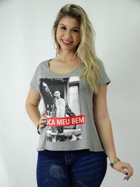 T-shirt em Viscolycra Estilo Mullet Se Toca Meu Bem [1809120]