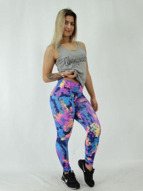 Calça Legging em Suplex Tintura Colors