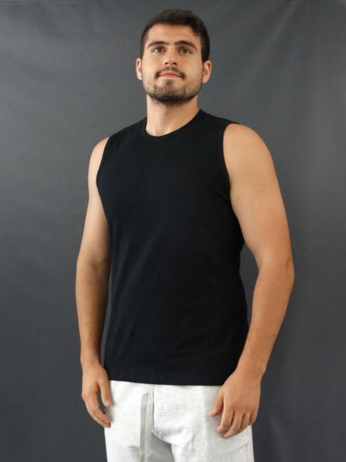 Camiseta Masculina Regata Machão Basic Preto [2010038]