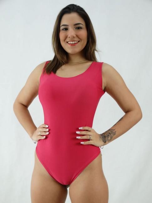 Body Regatão Decote Costas com bojo Suplex Liso Rosa Pink [2008041]