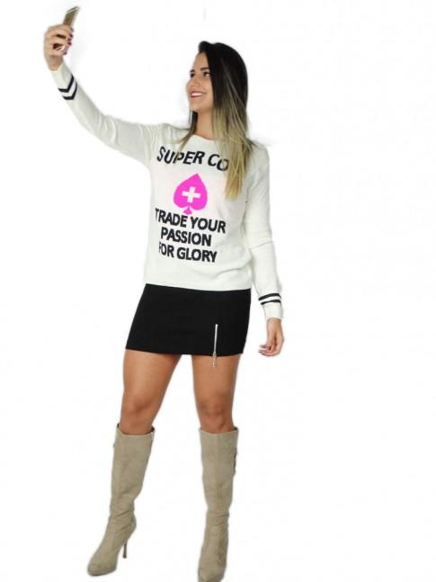 200-Blusa em tricot estampa super cool trade