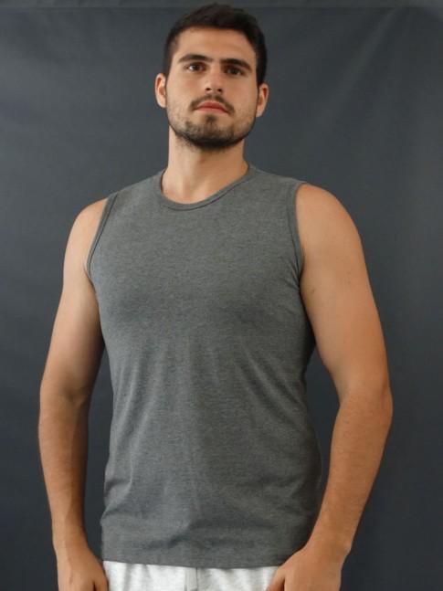 Camiseta Masculina Regata Machão Basic Cinza [2010041]