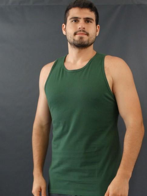 Camiseta Masculina Regata Basic Verde [2010042]