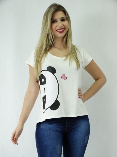 T-shirt em Viscolycra Estilo Mullet Panda Espiã [1810177]