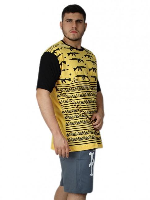 312 - Camisa Swag Caveiras Armadas