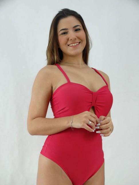 Body Decote com Abertura com Bojo Suplex Rosa Pink [2008013]
