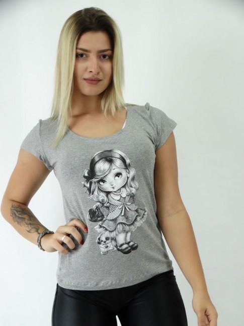 T-shirt em Viscolycra Bonequinha