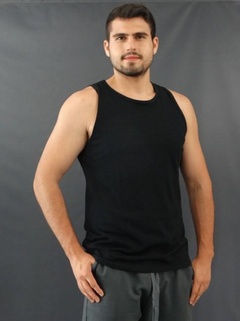 Camiseta Masculina Regata Basic Preto [2010043]