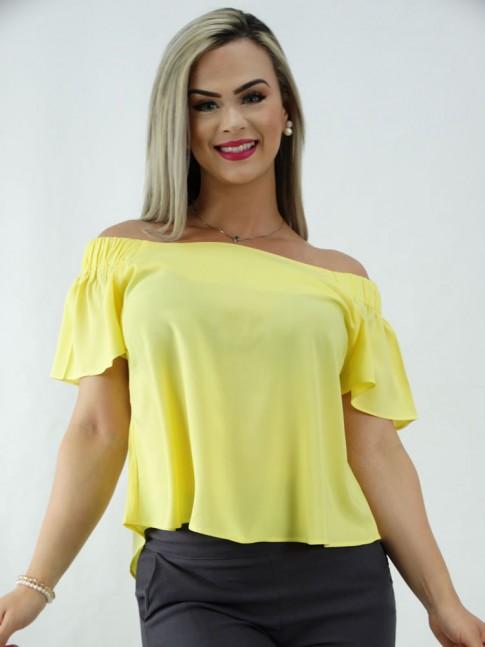 Blusa Ciganinha em Viscose Estilo Bata Amarelo [2001053]