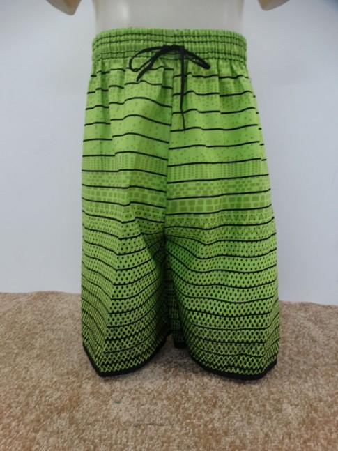 Bermuda Infantil em Microfibra Verde Limao Listras Poa [1901307]
