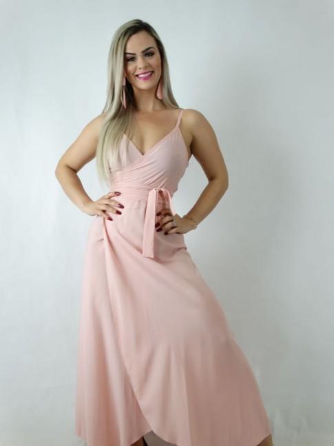 Vestido em Viscose Envelope Rosa [1905008]