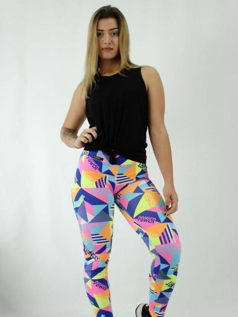 Calça Legging em Suplex Colors Focus