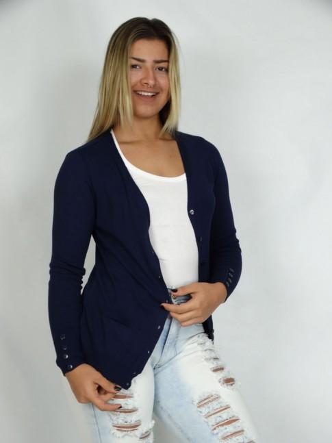 200-Cardigã em tricot liso
