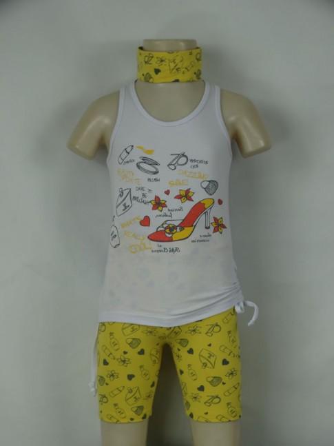 311 - Conjunto Fem.Inf. Ciclista Estampa Fashion