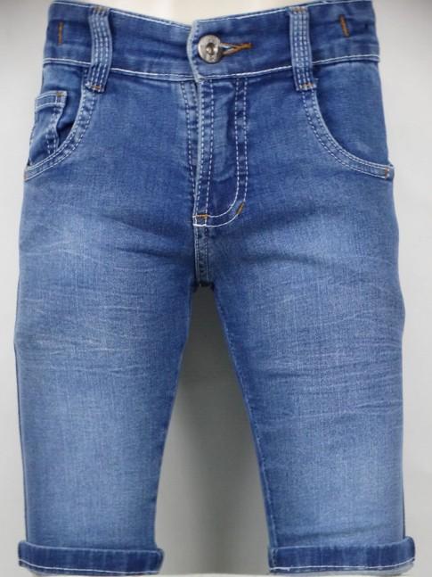 311 - Bermuda masc. Infantil em jeans claro c/Stretch