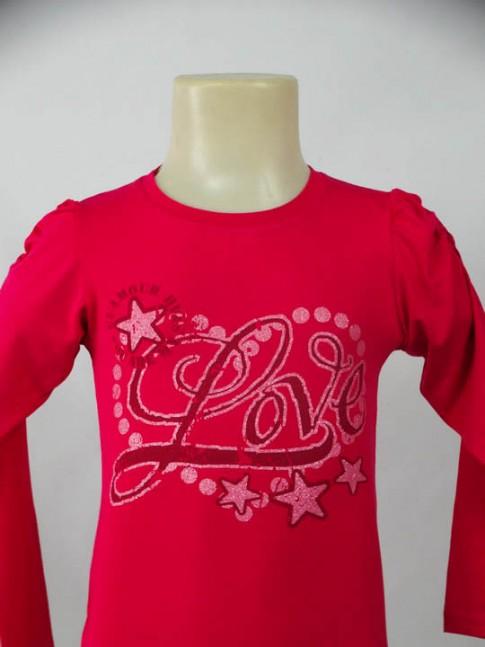 Blusa infantil rosa pink com estampa
