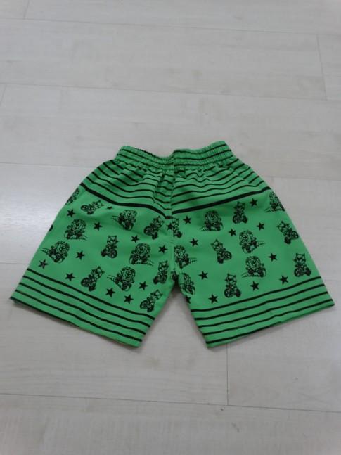 Short Infantil em Microfibra Verde Limão Bichinhos [1812107]